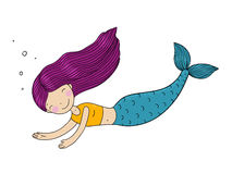 Beautiful little mermaid. Royalty Free Stock Photography