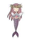 Beautiful little mermaid. Siren. Sea theme. Stock Photography