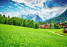 Beautiful little mountainous village Royalty Free Stock Images