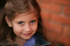 Beautiful little preschool girl Stock Image