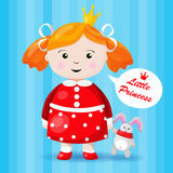 Beautiful little princess character Royalty Free Stock Photos