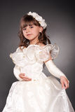 Beautiful little princess dancing Stock Images