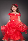 Beautiful little princess dancing stock photo