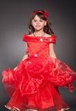 Beautiful little princess dancing Stock Photo
