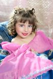 Beautiful little princess magic pink girl Royalty Free Stock Images