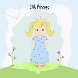 Beautiful little princess standing on the grass Stock Photography