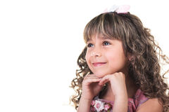 Beautiful little romantic girl Royalty Free Stock Photo