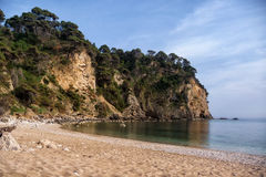 Beautiful little sandy beach near Parga, Greece Royalty Free Stock Photos
