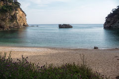 Beautiful little sandy beach near Parga, Greece Stock Images