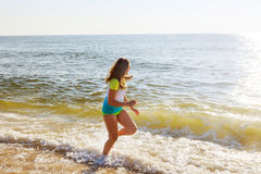 Beautiful little swimming in the ocean Stock Images