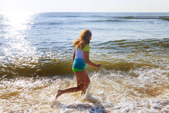 Beautiful little swimming in the ocean Stock Image