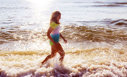 Beautiful little swimming in the ocean Stock Photo