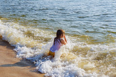 Beautiful little swimming in the ocean Royalty Free Stock Images