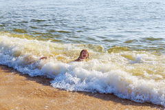 Beautiful little swimming in the ocean Royalty Free Stock Photos