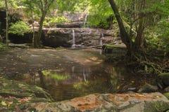 Beautiful little waterfall and whirlpool Stock Photos