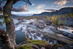 Lovely Waterfalls in Sweden . Stock Images