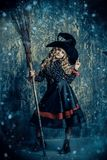 Beautiful little witch stock images