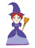 Beautiful little witch Stock Image