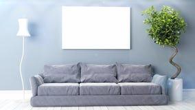 Beautiful living room 3D render stock footage