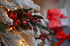 Beautiful living room decorated for Christmas Royalty Free Stock Photos