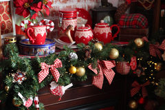 Beautiful living room decorated for Christmas Royalty Free Stock Photo
