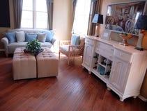 Beautiful living room interior stock photos