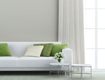 Beautiful living room. With white sofa