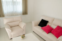 Beautiful living room with white sofa Royalty Free Stock Image