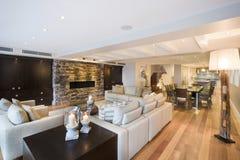 Beautiful living room with wooden floor Stock Photo