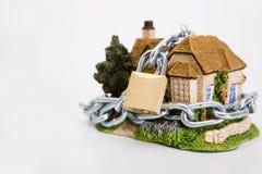Beautiful locked house Royalty Free Stock Photography
