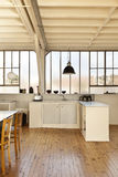 Beautiful loft. Interior, beautiful kitchen of an old loft Stock Images
