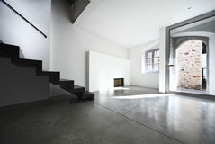 Beautiful loft duplex. Interior gateway Royalty Free Stock Photography