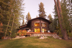 Beautiful Log Cabin Exterior Royalty Free Stock Images
