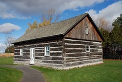 Beautiful log cabin Quebec Canada Stock Images