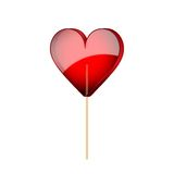 Beautiful lollipop with heart shaped. Love Royalty Free Stock Images