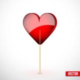 Beautiful lollipop with heart shaped. Love Stock Images