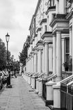 Beautiful of London style mansions at Earls Court Stock Image