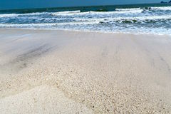 A beautiful lonely beach with nobody. Thailand Royalty Free Stock Photography