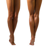 Beautiful long female legs Stock Photography
