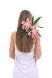 Beautiful long hair Stock Image