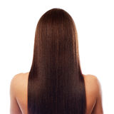Beautiful long hair isplated on white Stock Photography