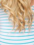 Beautiful long hair /woman. Beautiful long blonde hair of a woman stock photos
