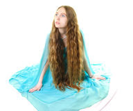 Beautiful long-haired girl Royalty Free Stock Photography