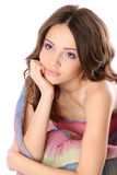 A beautiful long-haired girl Royalty Free Stock Photography
