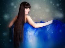 The beautiful long-haired girl Royalty Free Stock Photography