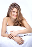 Beautiful long-haired girl Stock Images