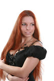 Beautiful long-haired woman Royalty Free Stock Photography