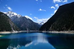 Beautiful Long Lake at Jiuzhaigou Stock Photography