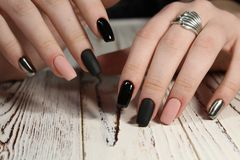 beautiful long nails Royalty Free Stock Photos