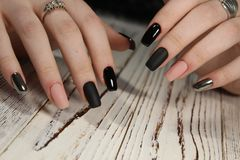 beautiful long nails royalty free stock photos